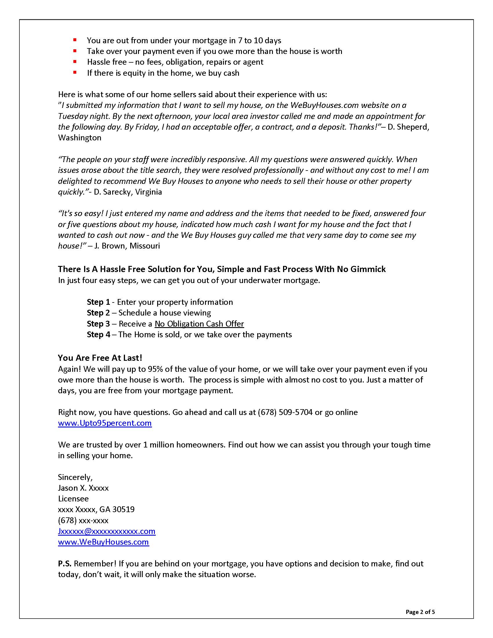 Sales Letters Grovers Copywriting – Sales Letter Sample