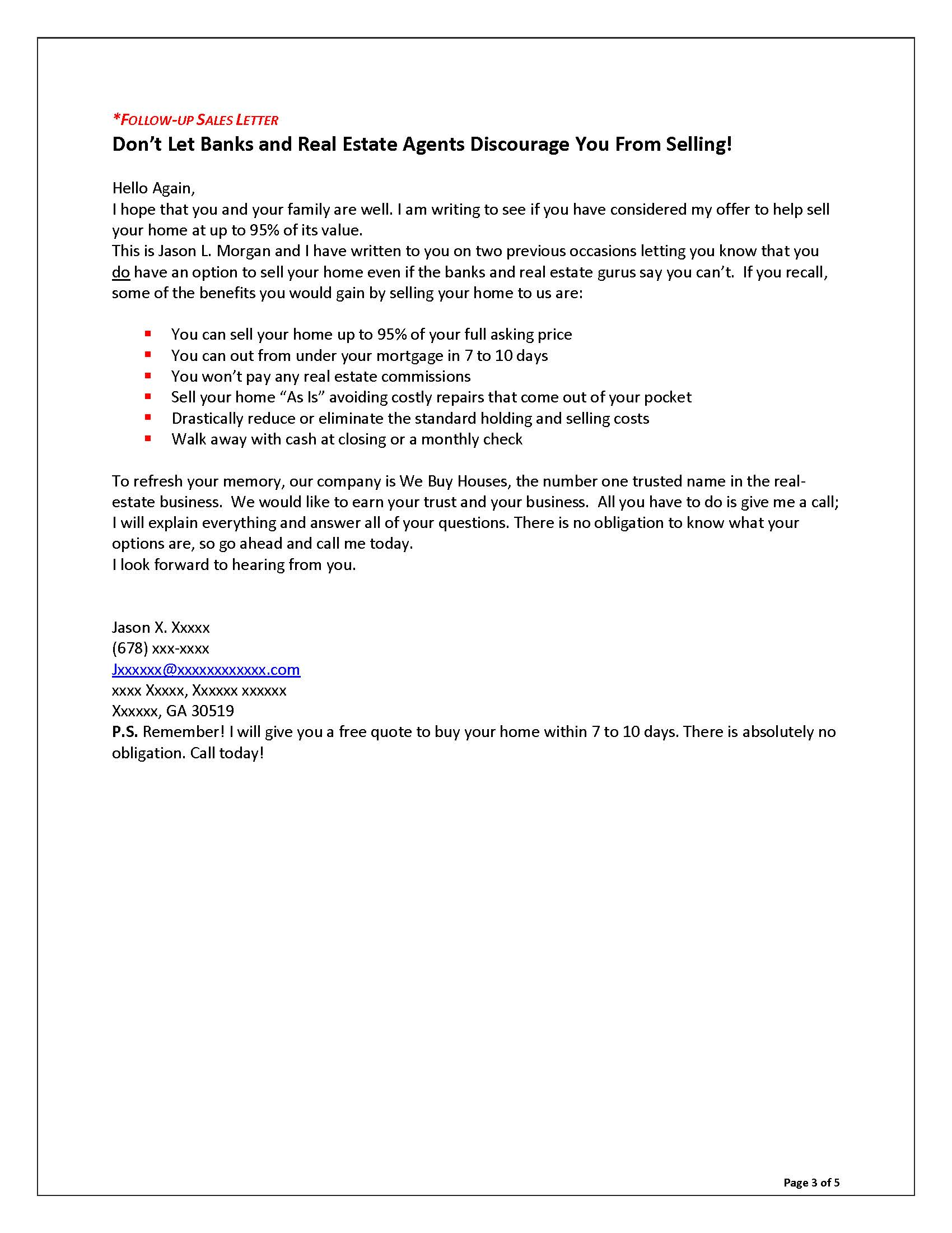 Sales Letters Grovers Copywriting – Business Sales Letter