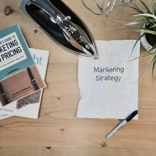 Notes on a desk - marketing strategy